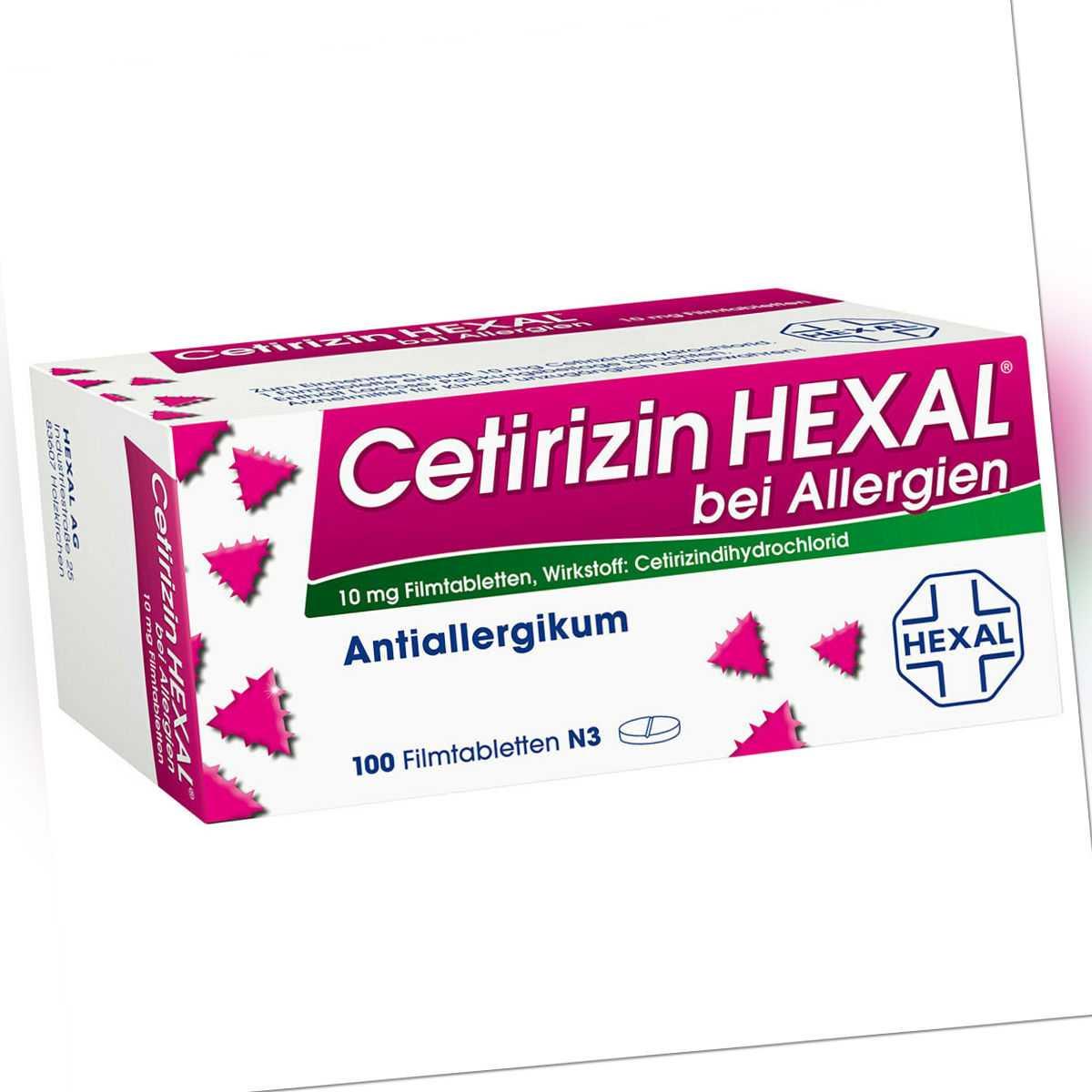 CETIRIZIN HEXAL B ALLERGIE Filmtabletten 100 St PZN:01830229