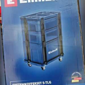 Einhell Systemkofferset 5-tlg Maschinen Koffer SET Werkstattwagen