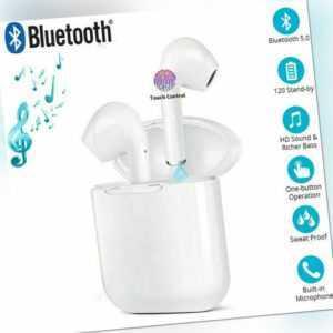 Bluetooth 5.0 Kopfhörer In-Ear Headset Mini Ladebox für Samsung Huawei iPhone DE