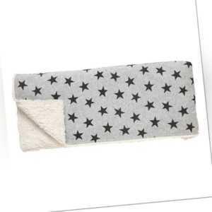 HÜBSCH 508007 Tagesdecke Sterne, 130x160cm, Baumwolle