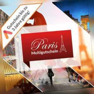 Städtereise Paris Multi Hotel Gutschein - 6 Wahl Hotels für 2 Personen 2 Ü/F