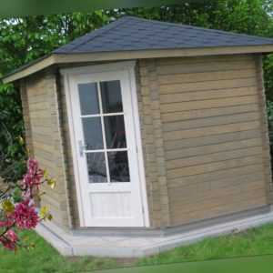 5 Eck Gartenhaus aus Holz Blockhaus  2.6x2.6M, 40mm, Mainz EB40051oFL