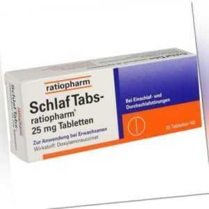 SCHLAF TABS-ratiopharm 25 mg Tabletten 20 St 07707524