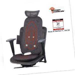 Shiatsu-Sitzauflage für Rückenmassage, mit IR-Tiefenwärme & Vibration
