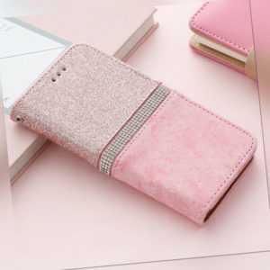 Handy Tasche Glitzer Kristal Schutz Hülle für Samsung S8 S9 S10 S20 Plus Ultra