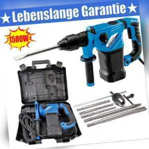 Bohrhammer SDS Plus Stemmhammer Meißelhammer Bohrmaschine Abbruchhammer 1500W de