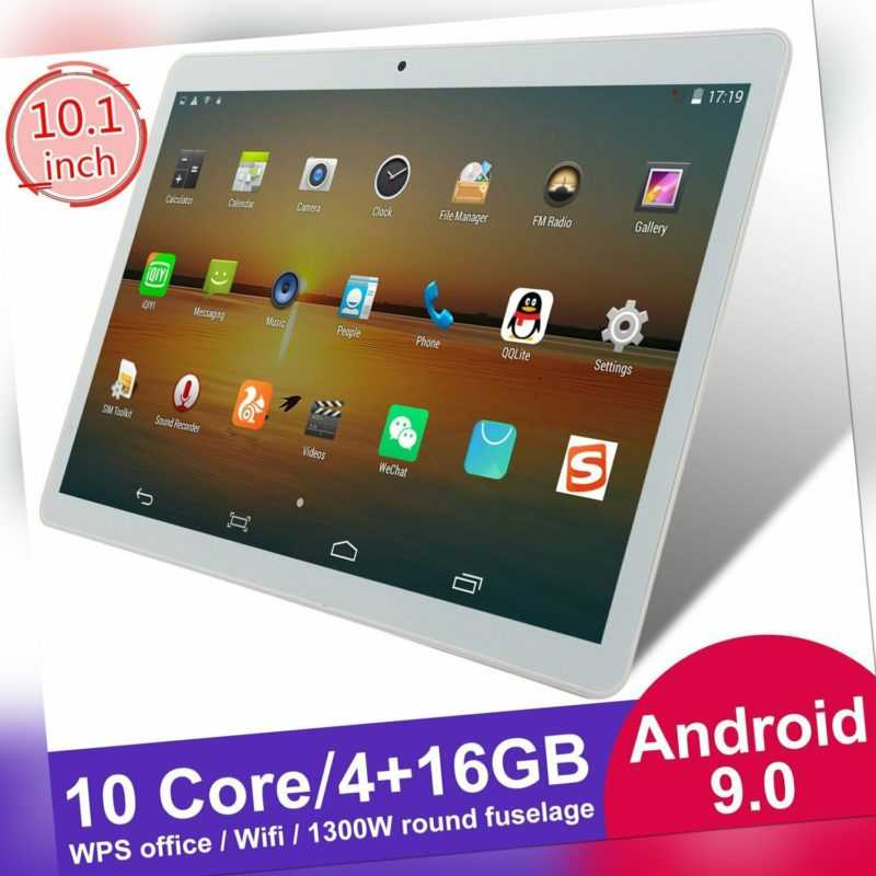 """10.1"""" HD Tablet PC Android 9.0 WIFI Bluetooth Dual Kamera 10 Core 4+16GB GPS"""