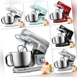 Küchenmaschine Knetmaschine Rührmaschine 5,5 L Rührschüssel 1500W...
