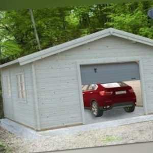 Palmako Holzgarage 70mm Roger 27,7 m² + Sektionaltor 5,6x5,6m Garage Holz Haus