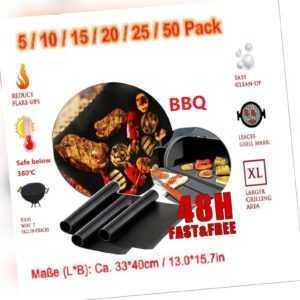 Grillmatte 5-50er BBQ Grillunterlage Antihaft Backmatte BBQ Grill Mat 40x33cm