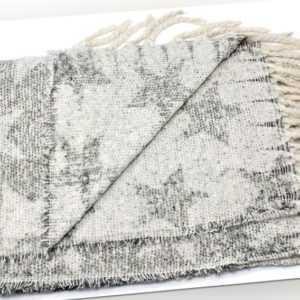 Vierecktuch Sterne XXL Schal mit Fransen PLAID Weich & Warm