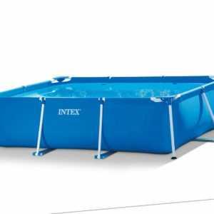 INTEX Family Swimming Pool 300 x 200 x 75cm Schwimmbecken Rechteck Stahlrahmen
