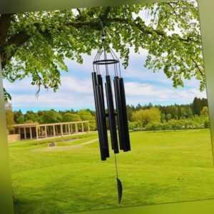 Wind Spiele im Freien GroßE Tiefe Ton 8 Metallrohre Wind Spiele für Hausgar E3N9