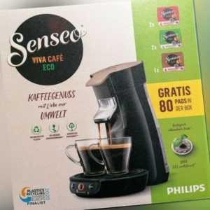 Philips Senseo HD6562/32 Viva Cafe Eco Kaffeepadmaschine inkl. 80...