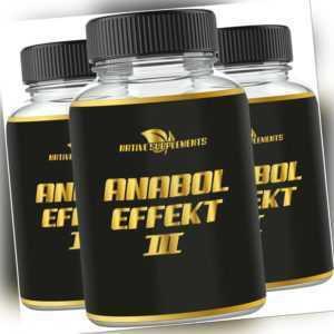 ANABOL EFFECT 3 Testosteron Booster Muskelaufbau extrem Anabolika Testo Kapseln