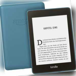 Kindle Paperwhite eBookReader 8 GB WLAN Blau Modell 2018 Wasserdicht *NEU*OVP