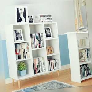 Raumteiler Regal Bücherregal Standregal Aktenregal Kinder Aufbewahrung 8 Fächer