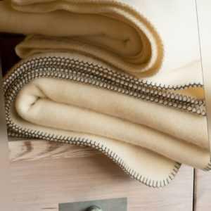 Wollzeit Wolldecke aus 100 % reiner Merino Schurwolle weiss 155 x