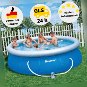 Bestway Schwimmbecken Pool Gartenpool Quick Up Pool 305 x 76 cm Pool Filterpumpe