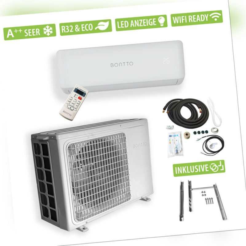 BONTTO K12 Split Klimaanlage 12000BTU Klimagerät 3,5kW Inverter WiFi-Ready A++; EEK A++