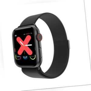 Smartwatch W68 IPS Display Bluetooth Pulsuhr Milanaise Armband Magnetverschluss