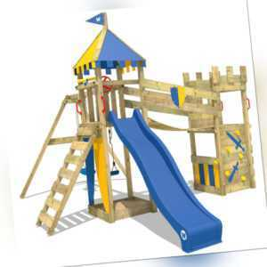 WICKEY Spielturm Kletterturm Smart Hero Ritterburg Garten Holz Schaukel Rutsche
