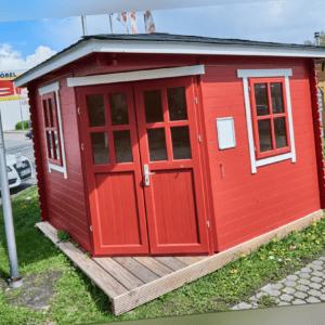 28 mm 5-Eck Gartenhaus 300x300cm 3x3m Gerätehaus Blockhaus inkl. Fußboden ALL IN