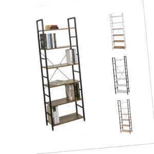 6 Etagen Standregal Küchenregal Bücherregal Lagerregal Haushaltsregal Metal Holz