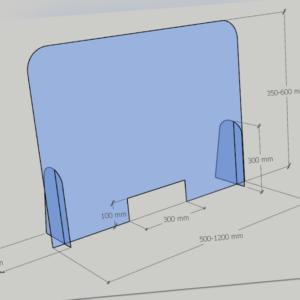Schutzscheibe Spuckschutz Acrylglas mit Durchreiche Thekenaufsatz Plexiglas
