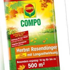 COMPO Herbst Rasendünger mit Langzeitwirkung 10 kg für bis zu 500 m²