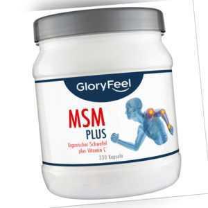 MSM Methylsulfonylmethan 330 Kapseln 1.600mg Knochen Gelenke Zertifikat 99,9%
