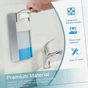 Eurospender 1000 ml Seifenspender Wandmontage, Desinfektionsmittelspender, Bügel