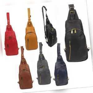 Crossover Crossbody Bag Rucksack Umhänge Schulter City Tasche Leder Vintage NEU
