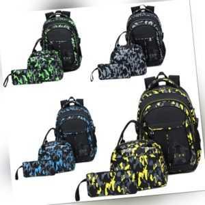 Rucksack Jungen Mädchen Ranzen Schulranzen Schulrucksack+Tasche+Mäppchen Set DHL