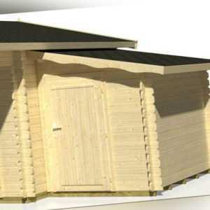 Palmako Anbauschuppen für Gartenhaus Gartenhausanbau Gartenschuppen 160 x 235 cm