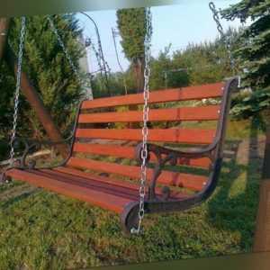 Gartenschaukel Hollywoodschaukel Massivholz Kiefer 160 cm lang
