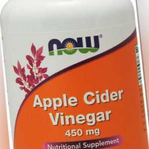 Now Foods, Apple Cider Vinegar (Apfelessig),  450mg, 180 Kapseln - Blitzversand