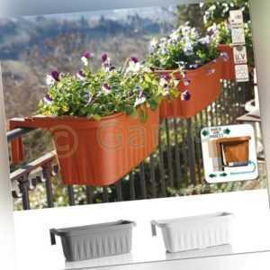 Geländerkasten Balkonkasten Geländer Blumen Kasten Topf Halterung Wasserspeicher