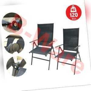 2x klappstuhl klappbar stuhl campingstuhl faltstuhl gartenstuhl liegestuhl liege