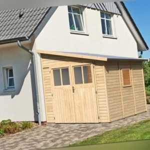 Karibu Gartenhaus BOMLITZ 3 natur Gerätehaus 238x268cm 19mm Schuppen