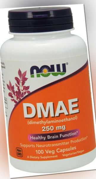 Now Foods, DMAE, Healthy Brain Function, 250mg, 100 Veg. Kapseln - Blitzversand