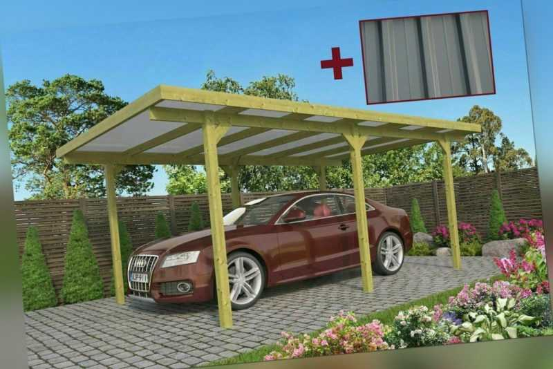Einzelcarport 3x5 m incl. Dach aus Trapezblech Carport ABHOLUNG sofort möglich