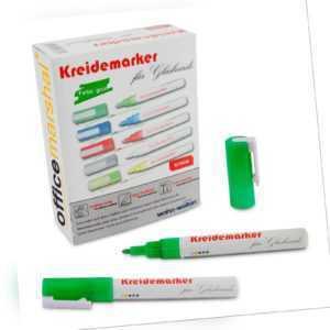 Kreidemarker Kreidestift Flüssigkreide Marker Whiteboardmarker | Grün  | 12 Stk
