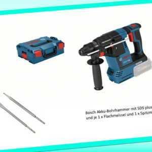 Bosch Akku-Bohrhammer GBH 18V-26 mit SDS plus inkl. L-Boxx und 2 Meissel NEU