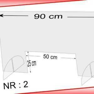 Spuckschutz Schutzscheibe Acrylglas Thekenaufsatz 90x58 cm, Durchreiche 50x25 cm
