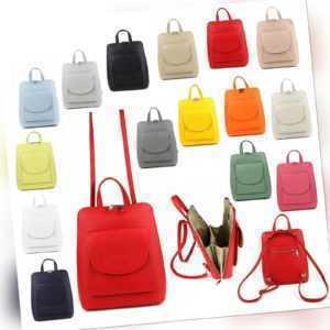 Rucksack Backpack Trage Umhänge Tasche Shopper Nappa Leder Vintage NEU Damen Bag