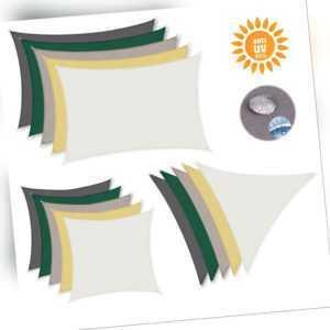 PES Sonnensegel rechteckig Sonnenschutz UV-Schutz wasserabweisend Schattensegel