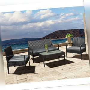 Gartenmöbel Polyrattan Sitzgruppe Rattan Gartenset Trinidad Garnitur ArtLife®