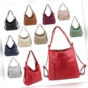 Rucksack Trage Umhänge Schulter Tasche Shopper Nappa Leder Vintage NEU Damen Bag