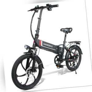 E-Klapprad Elektrofahrrad E-Bike Fahrrad mit Motor 350W 48V10.4AH 20 Zoll LCD DE